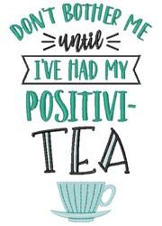 Positivity Tea Cup embroidery design