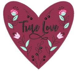 True Love Valentine embroidery design