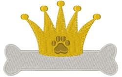 Royal Dog Bone embroidery design