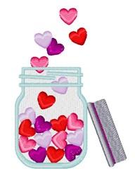 Valentine Jar embroidery design
