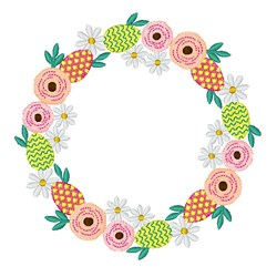 Easter Egg Wreath embroidery design