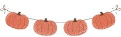 Pumpkin Banner embroidery design