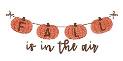 Fall In The  Air embroidery design