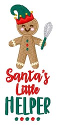 Santas Little Helper embroidery design