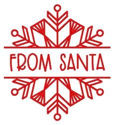 Christmas Redwork Snowflake Name Split From Santa Gift Tag embroidery design