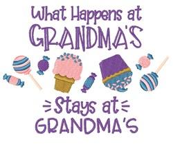What Happens At Grandmas embroidery design
