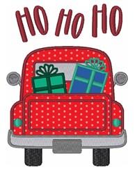 Christmas Gifts Truck Ho Ho Ho embroidery design