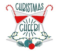 Christmas Cheer Cocktail Drinks embroidery design