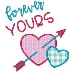 Hearts Valentines Day Forever Yours embroidery design