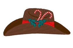 Christmas Cowboy Hat embroidery design