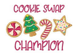 Cookie Swap embroidery design