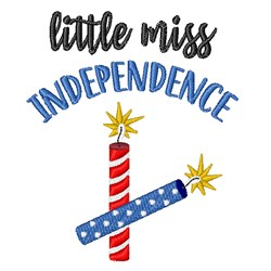 Little Miss Independence embroidery design