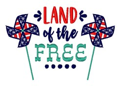 Land Of The Free embroidery design