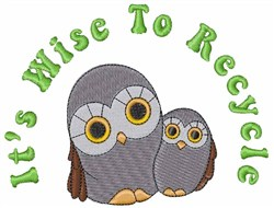Owls And Saying embroidery design