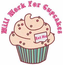 Cupcake Saying embroidery design