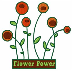 Flower Power Garden embroidery design