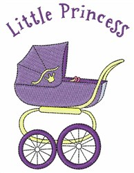 Baby Buggy Princess embroidery design