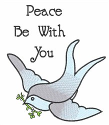 Peace Be With You embroidery design