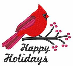 Holidays Cardinal embroidery design