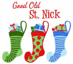 Good Old St. Nick embroidery design