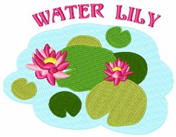 Water Lily embroidery design