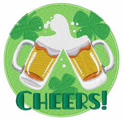 Shamrock Cheers embroidery design