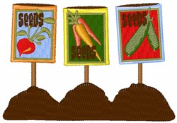 Seed Pack Signs embroidery design