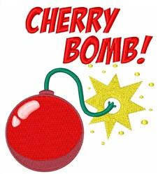 Cherry Bomb! embroidery design