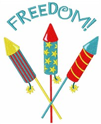 Freedom! embroidery design