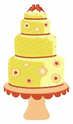 Layered Cake embroidery design
