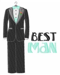Best Man embroidery design