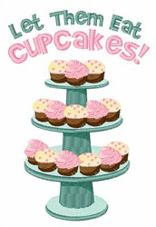 Eat Cupcakes embroidery design