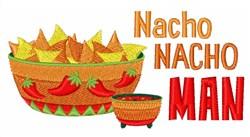 Nacho Nacho Man embroidery design