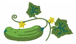 Cucumber embroidery design