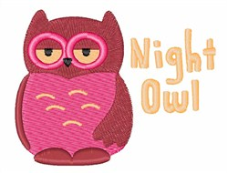 Night Owl embroidery design