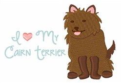 My Cairn Terrier embroidery design