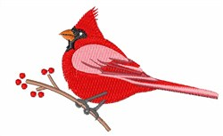 Northern Cardinal embroidery design