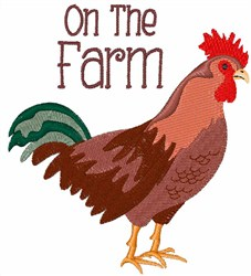 On The Farm embroidery design