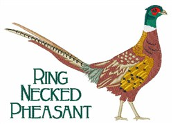 Ring Necked Pheasant embroidery design