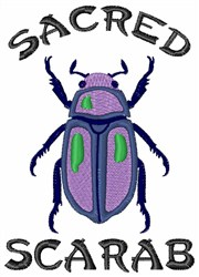 Sacred Scarab embroidery design