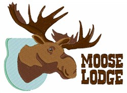 Moose Lodge embroidery design