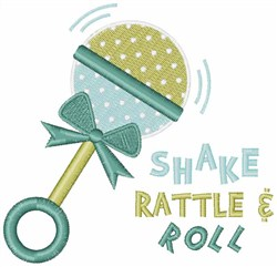 Shake Rattle & Roll embroidery design