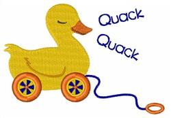 Quack embroidery design