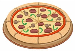 Pizza embroidery design