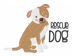 Rescue Dog embroidery design