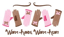 Warm Hands embroidery design