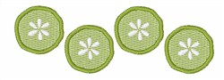Pickle Slices embroidery design