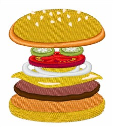 Cheeseburger embroidery design