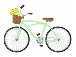Flower Basket Bike embroidery design