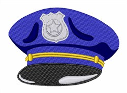 Police Hat embroidery design